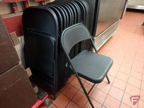 (16) metal folding chairs