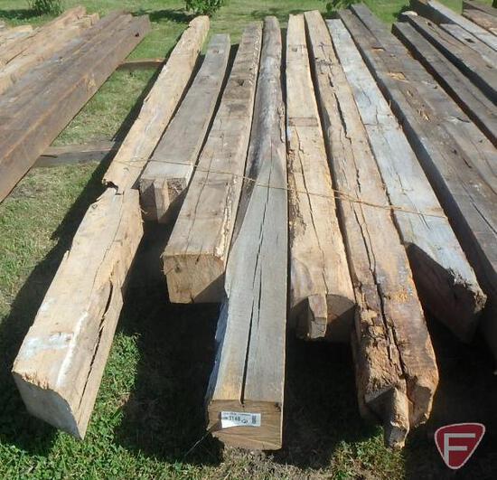 (5) Elm and (2) oak beams, 8x8, longest is 20'