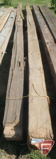 (2) Elm beams, 8x8, longest is 25'