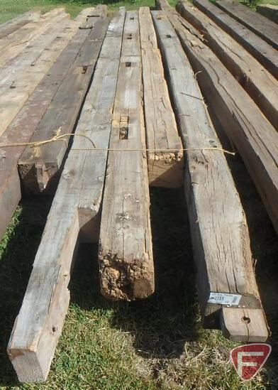 (4) Oak beams, 8x8, longest is 17'