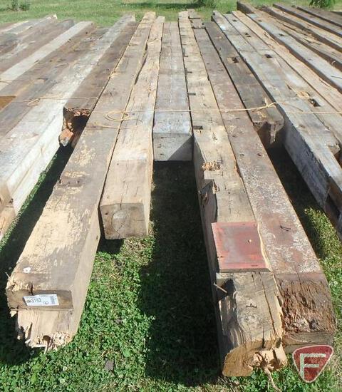 (3) Elm and (3) Fir beams, 8x8, longest is 24'