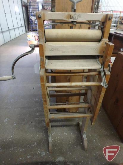Vintage Lovell wringer wash stand