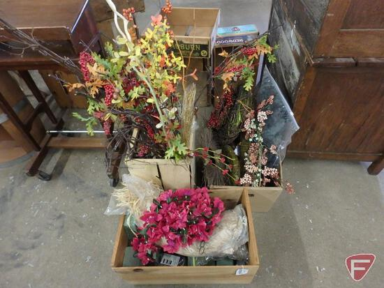 Artificial flowers. 3 boxes