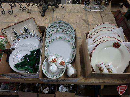 Christmas dishes, Better Home and Garden, Everyday Gibson, Tienshan Golden Pines,