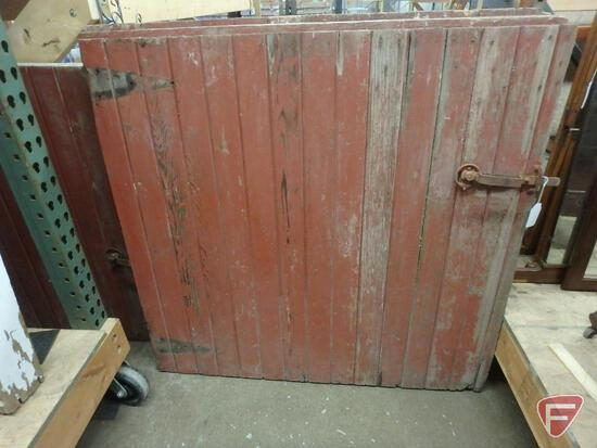 """Vintage solid(2)barn doors 47""""W x 45""""H and 47""""W x 42""""H"""
