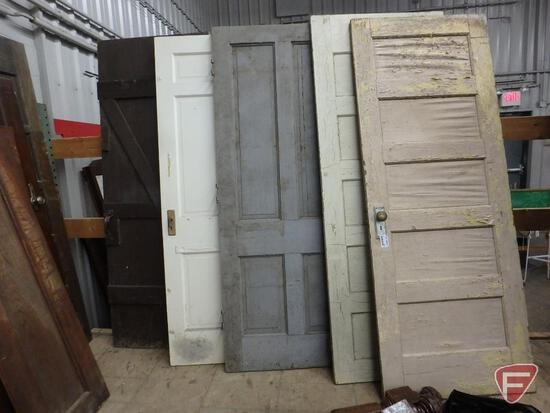 (13) wood doors, most are old and have original hardware