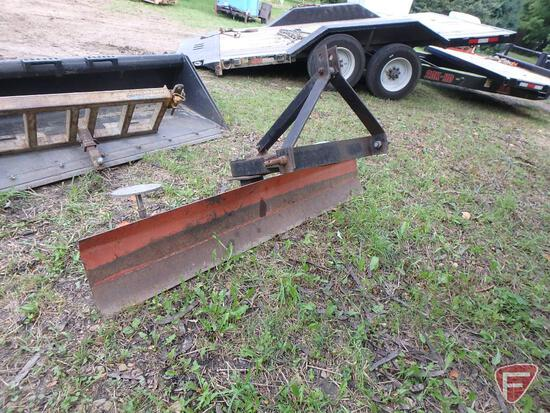 "84"" Atlas rear blade 3pt attachment with swivel and feet"