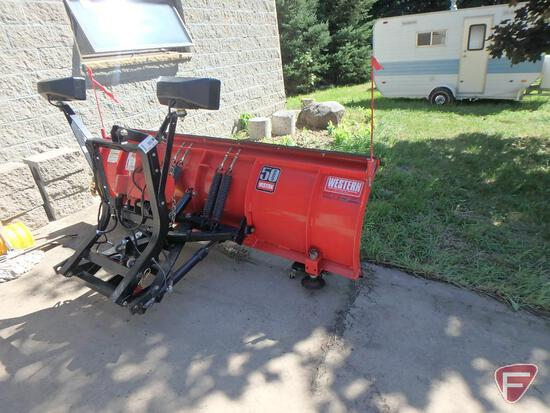 7' Western Pro snow plow with bolt-on cutting edge and controller