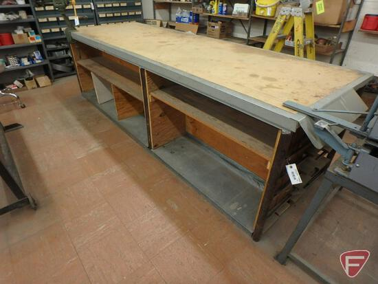 Table with under storage/shelves