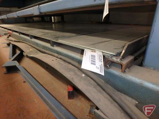 24 ga steel, (7) 4' x 10' sheets and (2) partial sheets