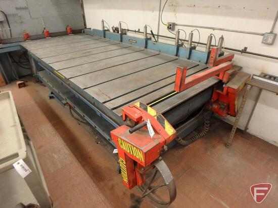 Lockformer longitudinal and horizontal shearing machine with sheet guides