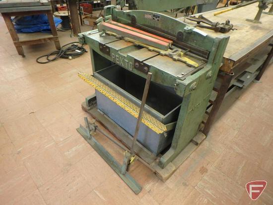 Pex, Stow & Wilcox Pexto 137-K shear machine, 16 ga capacity soft steel