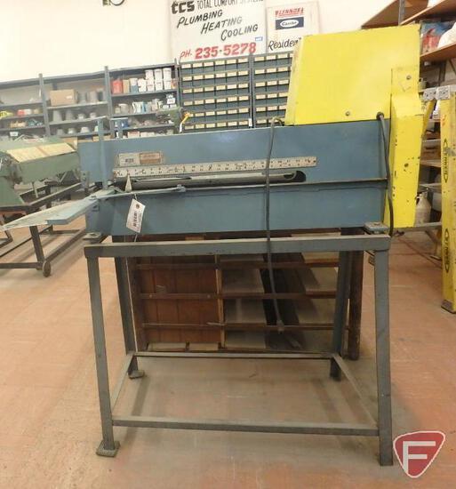 Wilder 1624 shear, 16 ga capacity mild steel