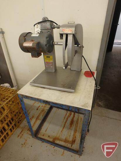 Biro poultry splitting machine on stand, model BCC-100, serial 9409, 115V