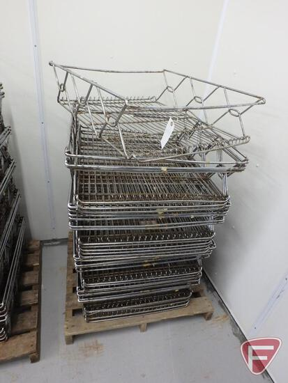 """Stackable wire baskets (20), 27""""x26""""x8"""""""