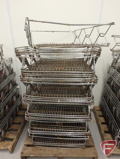 """Stackable wire baskets (19), 27""""x26""""x8"""""""