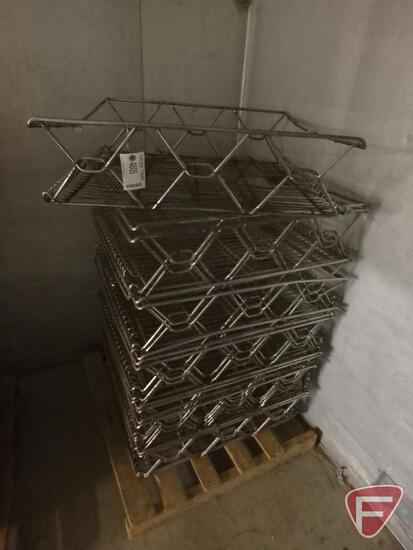 """Stackable wire baskets (14), 27""""x26""""x8"""""""