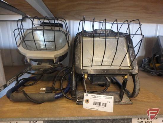 (2) halogen work lights