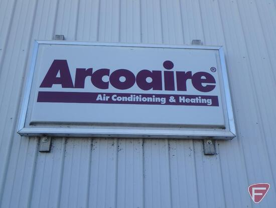 Single sided Arcoaire advertising sign on side of building