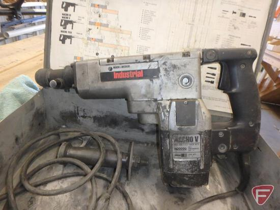 Black & Decker Macho V heavy duty industrial hammer drill with case and bit