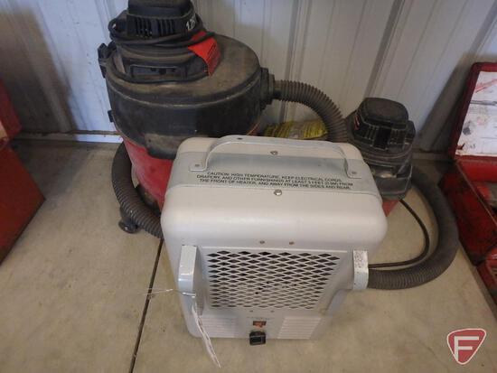 Titan electric heater, Shop Vac 1 gallon and 5 gallon wet/dry vacuums