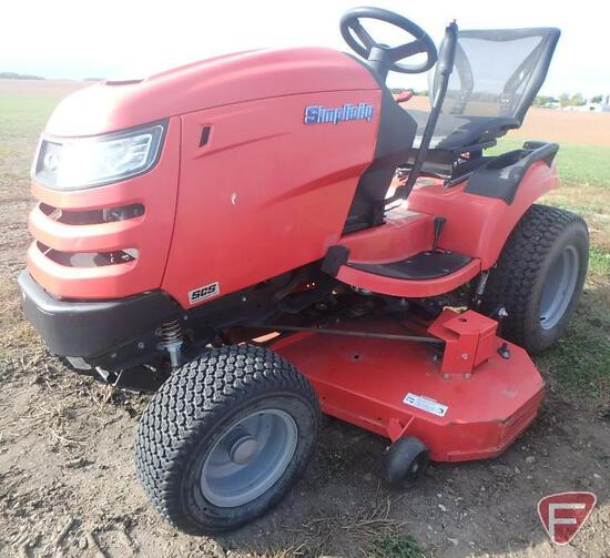 "2015 Simplicity Conquest 52"" riding mower, 248 hrs."