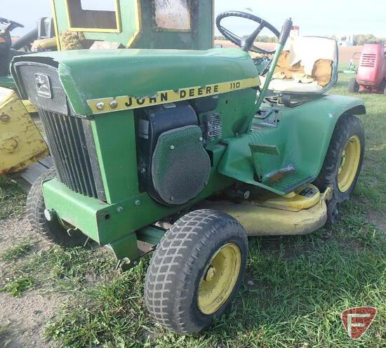 "John Deere 110 39"" riding mower"
