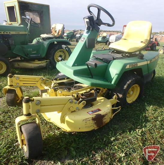 "John Deere F525 38"" riding mower"