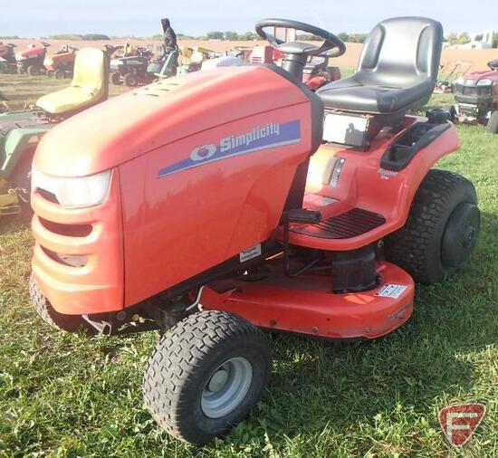 "Simplicity Regent 44"" riding mower, 451 hrs"