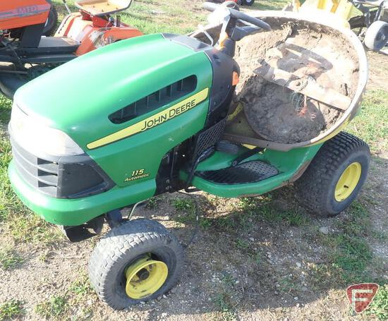 "John Deere 115 Automatic 42"" riding mower"