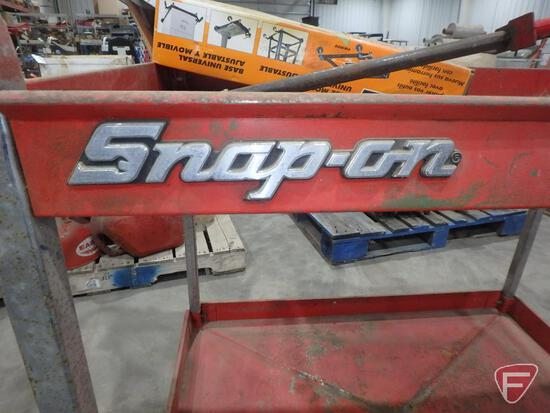 """Snap-On rolling cart 36""""W x 24""""Dx 36""""H, Port-a-Mat universal mobile base, bar clamp"""