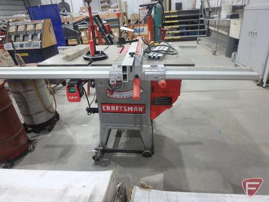 """10"""" Craftsman table saw on rollers, model 351.221140"""