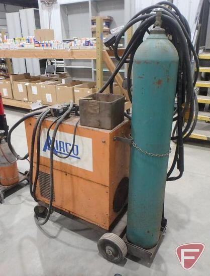 Airco Dip/Stick 160 MIG/TIG welder, 160 amps, 230volt single phase, C25 tank with regulator,