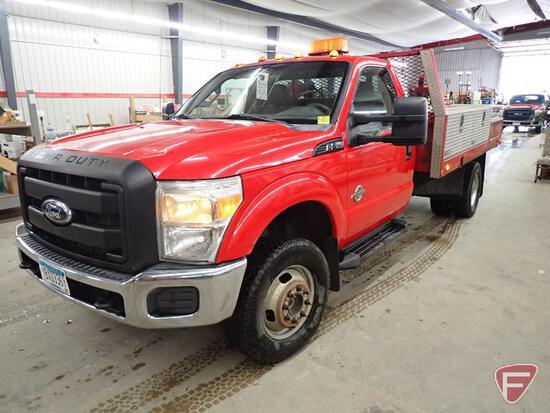 2012 Ford F-350 4x4 Flat Bed Truck