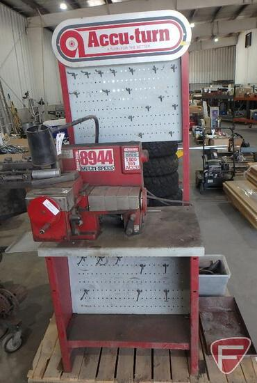 Accu Turn 8944 brake lathe, 110V, includes tooling