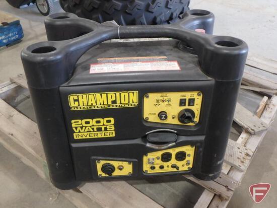 Champion 2000W generator/inverter, turns over, fuel tank empty