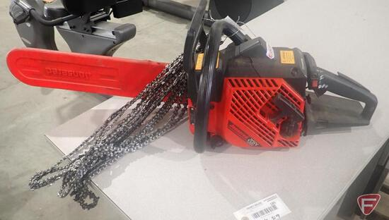 """Jonsered 2054 Turbo chainsaw, 18"""" bar, includes spare chains, seller states runs"""