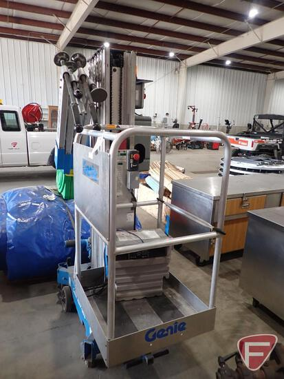Genie AWP-30S man lift, 350lb cap, with charger, inspected in 2019