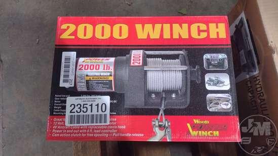 (UNUSED) WOOD POWER 2000 LB ELECTRIC WINCH