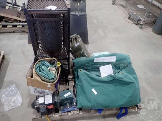 TARP, GERRY CAN, BOY SCOUT TRAIL TENT, NATURAL GAS HEATER,
