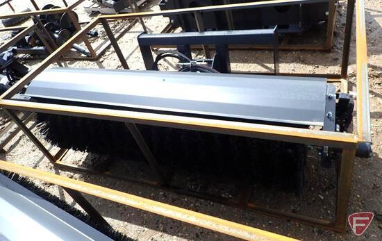 """Unused Wolverine 72"""" angle broom skid steer attachment"""