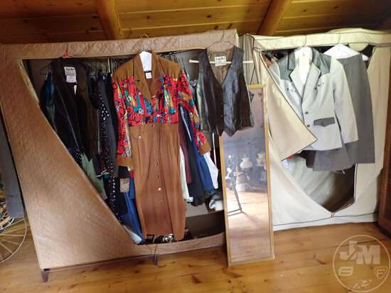 LARGE SELECTION OF WESTERN CLOTHING, LADIES IS MOSTLY SIZE SMALL,