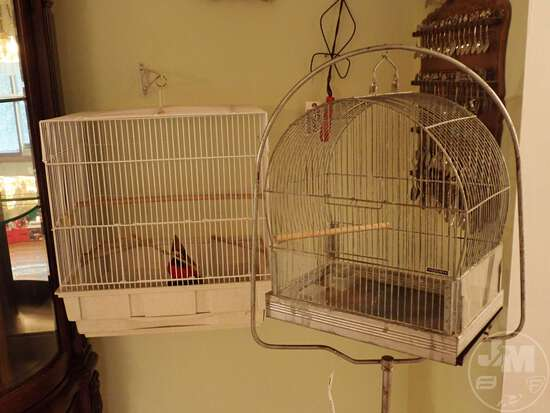 (2) BIRD CAGES
