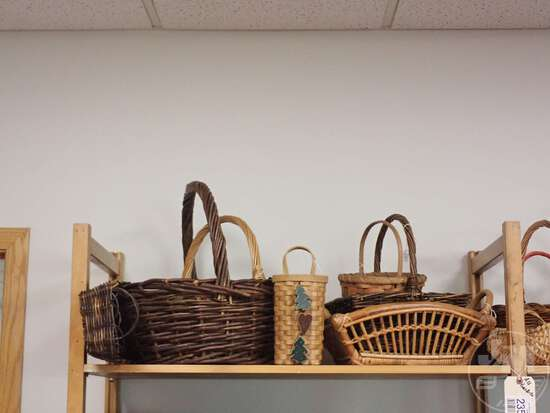 BASKETS, ALL ON TOP SHELVES