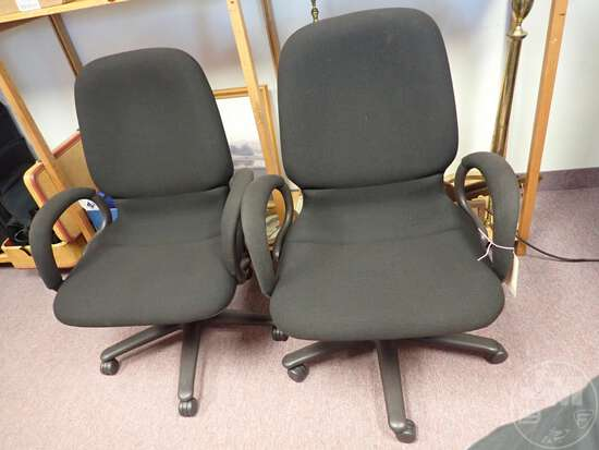 (2) ADJUSTABLE OFFICE CHAIRS