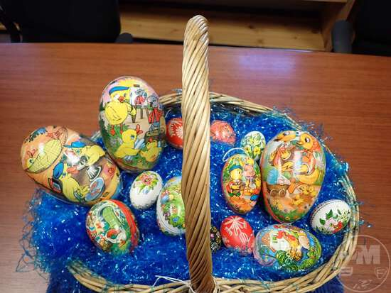 EASTER BASKET AND EGGS FROM GERMANY, EAST GERMANY, AND RUSSIA