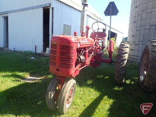 1951 FARMALL SUPER C TRACTOR, GAS ENGINE, NARROW FRONT, 540 PTO