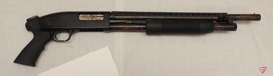 "MOSSBERG MAVERICK 88 12 GAUGE PUMP ACTION SHOTGUN, 18.5"" BARREL"