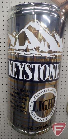 """KEYSTONE LIGHT BEER LIGHT UP SIGN, WORKS, 7""""D X 27""""H"""