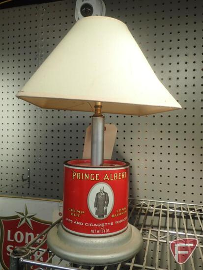 "PRINCE ALBERT TIN TABLE LAMP 18""H"